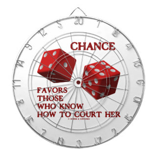 Chance Favors Those Who Know How To Court Her Dice Dart Board