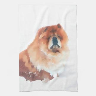 CHANCE heARTdog chow kitchen towel