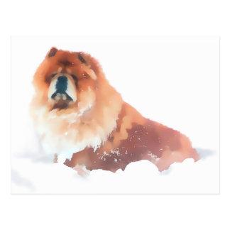 CHANCE IN THE SNOW heARTdog  postcard
