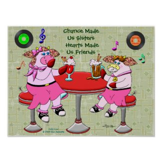 Chance Made Us Sisters, Hearts Made Us Friends print