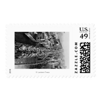 Chance Mine Workers loading up Coeur d'Alene Postage Stamp