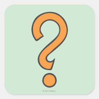 Chance - Orange Square Sticker
