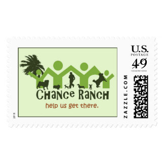 """Chance Ranch """"Help Us Get There"""" Postage Stamp"""