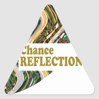 CHANCE REFLECTION : Words Impact ALL SHARE JOY Triangle Sticker