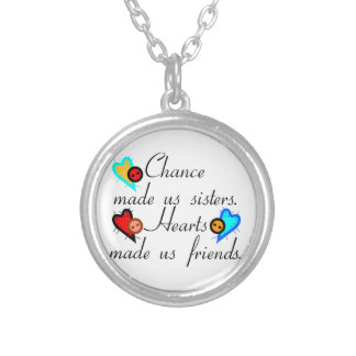 Chance Sisters Silver Plated Necklace