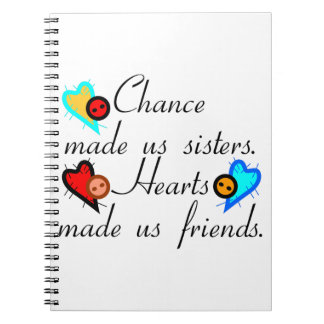 Chance Sisters Spiral Notebook