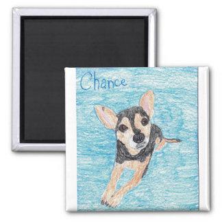Chance Square Magnet Drawn by Julia Vogel