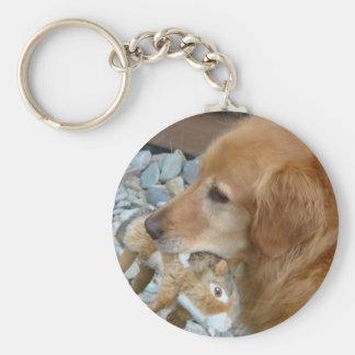 Chance - the Golden Retriever Key Chain