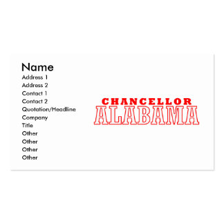 Chancellor, Alabama City Design Double-Sided Standard Business Cards (Pack Of 100)