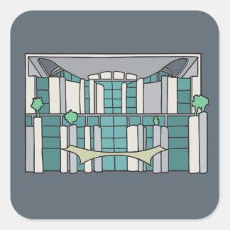 Chancellorship in Berlin Square Sticker