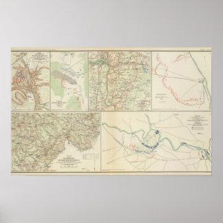 Chancellorsville Buckingham, Appomattox counties Print