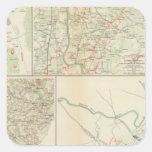Chancellorsville Buckingham, condados de Calcomania Cuadradas Personalizada
