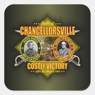 Chancellorsville Square Stickers