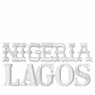 CHÁNDAL DE LAGOS NIGERIA CHAQUETA BORDADA DE ENTRENAMIENTO