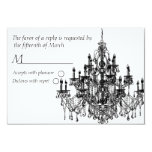Chandee Amore' rsvp card-black 3.5x5 Paper Invitation Card