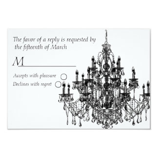 Chandee Amore' rsvp card-black Personalized Invites