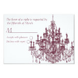 Chandee Amore' rsvp card-TP 3.5x5 Paper Invitation Card