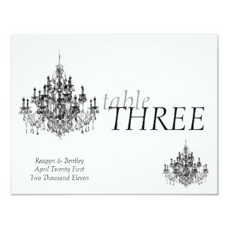 Chandee Amore' table number Card