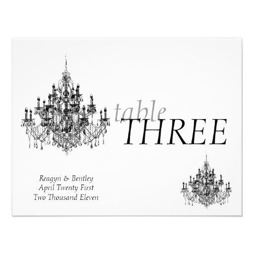 Chandee Amore' table number Invite