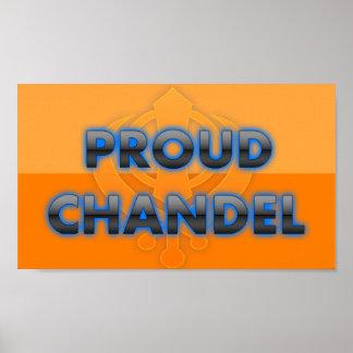 Chandel orgulloso orgullo de Chandel Poster