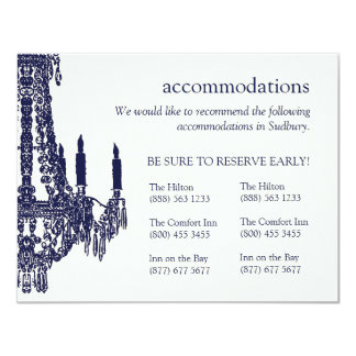 Chandelier Accommodation Cards