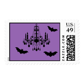 Chandelier and Bats Postage