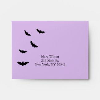 Chandelier and Bats RSVP Envelope