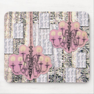chandelier and lacey patches mouse pad