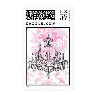 Chandelier and Pink Toile Postage ... - Customized