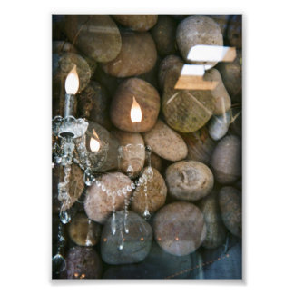 Chandelier and stones photo print