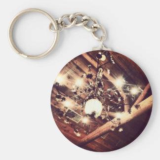 Chandelier Basic Round Button Keychain