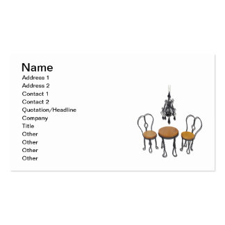 Chandelier Bistro Setting Business Card