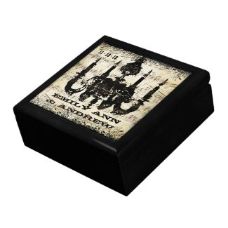 Chandelier Black Swirl Keepsake Jewellery Box giftbox