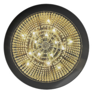 Chandelier Bling Party Plate