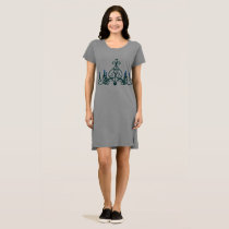 Chandelier Blue - Tshirt Dress