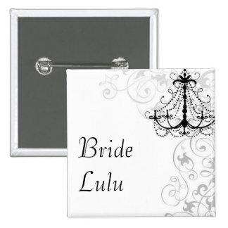 Chandelier Bride Button