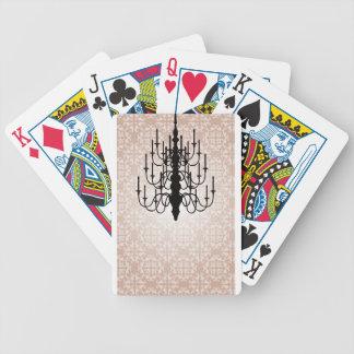 Chandelier brown poker deck