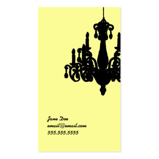 Chandelier Calling Card Double-Sided Standard Business Cards (Pack Of 100)