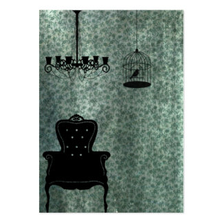 Chandelier, chair, and Birdcage Business Card Templates