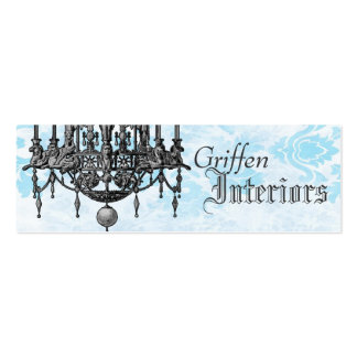 Chandelier Classic Profile Card Double-Sided Mini Business Cards (Pack Of 20)