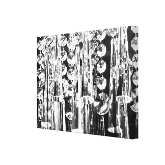 Chandelier crystals to decorate the wall! canvas print