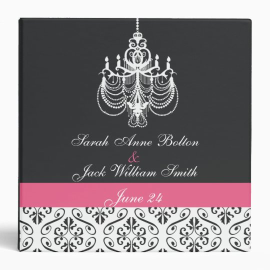 Chandelier Damask Binder