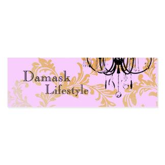 Chandelier Damask Business Card