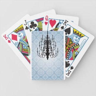 Chandelier Design blue Card Decks