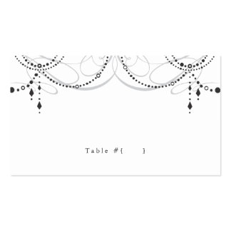 Chandelier Escort Card Double-Sided Standard Business Cards (Pack Of 100)