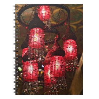 Chandelier for sale, Khan el Khalili Bazaar, Notebook