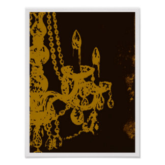 Chandelier Glamour ~ Print / Poster