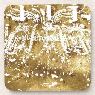Chandelier Golden Light Drink Coaster
