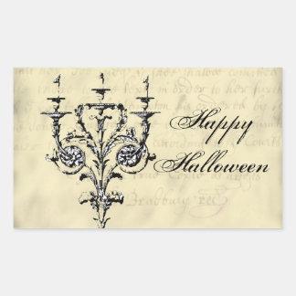 Chandelier Halloween Rectangular Sticker