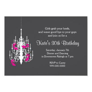 Chandelier High Heel Bachelorette Party Invitation